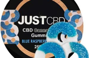 Blue Raspberry Gummy Jar By Just CBD Review